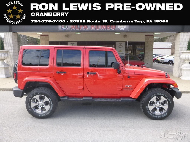 Pre Owned 2017 Jeep Wrangler Unlimited Sahara Suv In Cranberry