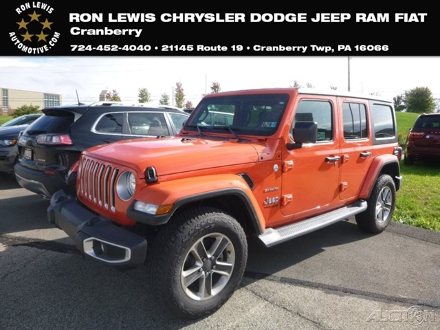 New 2018 Jeep Wrangler Unlimited Sahara Suv In Cranberry Township